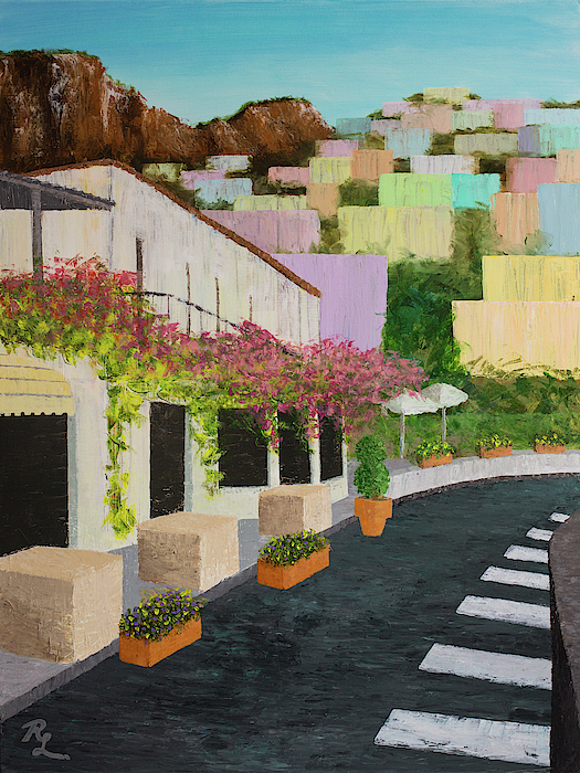 The Streets of Positano by Renee Logan